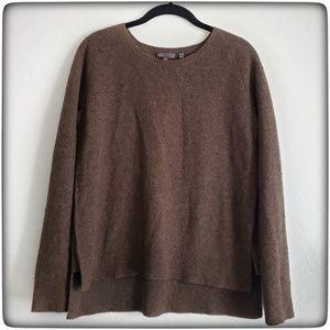 Vince Moss Stitch Wool Blend Sweater, XS Nutmeg